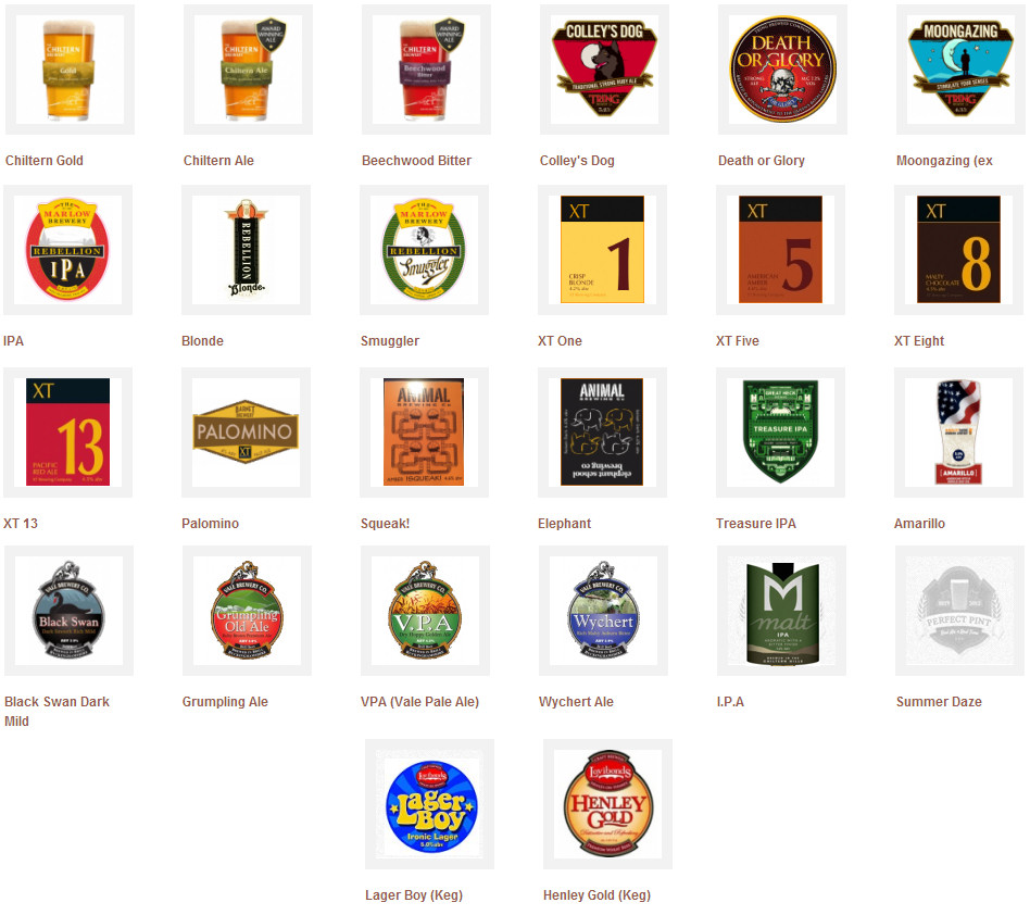 Chinnor 2014 Summer Beer Festival - selection of ales